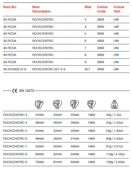 Zestaw kości ROCKCENTRIC SET 5-9 WILD COUNTRY