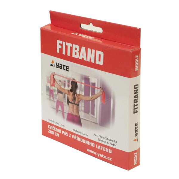 GUMA DO ĆWICZEŃ FIT BAND 200 x 12 CM MEDIUM/RED YATE