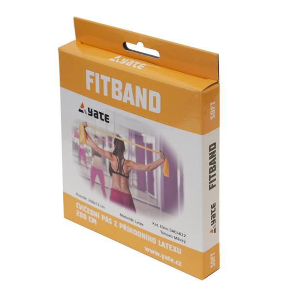GUMA DO ĆWICZEŃ FIT BAND 200 X 12 CM LIGHT/YELLOW YATE